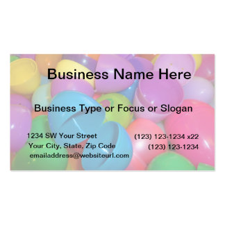 Plastic Easter Eggs Blue One Open Photograph Double-Sided Standard Business Cards (Pack Of 100)