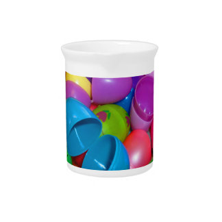 Plastic Easter Eggs Blue One Open Photograph Drink Pitchers