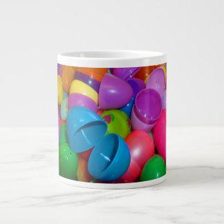 Plastic Easter Eggs Blue One Open Photograph Giant Coffee Mug