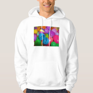 Plastic Easter Eggs Blue One Open Photograph Hoody
