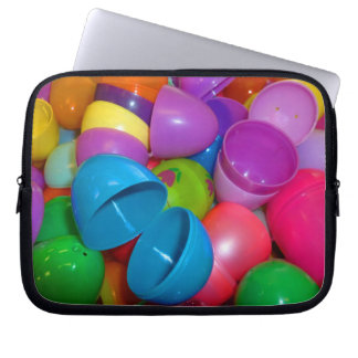 Plastic Easter Eggs Blue One Open Photograph Laptop Sleeve