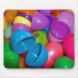 Plastic Easter Eggs Blue One Open Photograph Mouse Pad