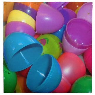 Plastic Easter Eggs Blue One Open Photograph Napkin