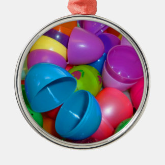 Plastic Easter Eggs Blue One Open Photograph Christmas Ornament