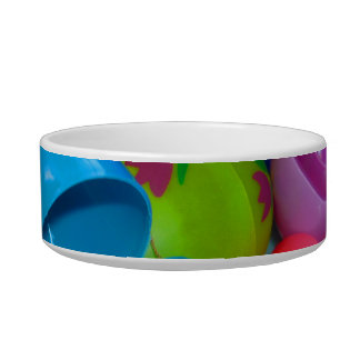 Plastic Easter Eggs Blue One Open Photograph Pet Water Bowls