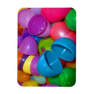 Plastic Easter Eggs Blue One Open Photograph Rectangular Photo Magnet