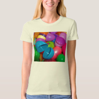 Plastic Easter Eggs Blue One Open Photograph Shirts