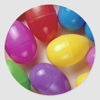 Plastic Easter eggs Classic Round Sticker