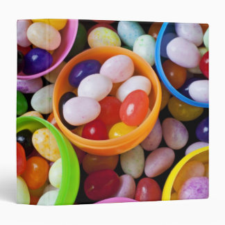 Plastic eggs filled with jelly beans binder