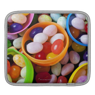 Plastic eggs filled with jelly beans iPad sleeve
