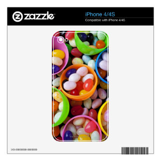 Plastic eggs filled with jelly beans skins for the iPhone 4