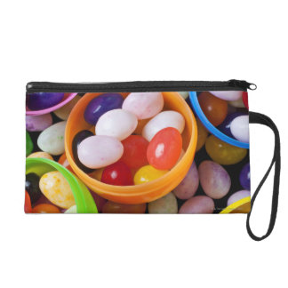 Plastic eggs filled with jelly beans wristlet purse