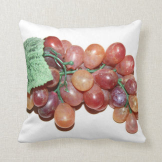 plastic fake grape food image throw pillow
