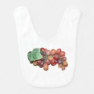 plastic fake grape food image baby bibs