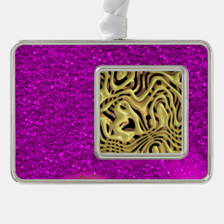 plastic fantasy yellow (I) Silver Plated Framed Ornament