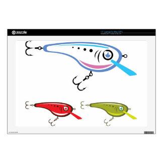 Plastic Fishing Lure Vector Art Laptop Skins