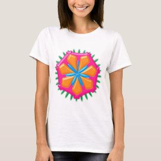 Plastic flower plastic more flower artificial T-Shirt