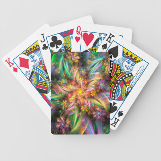 Plastic Flower Spiral Bicycle Playing Cards