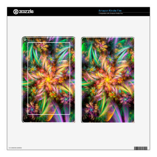 Plastic Flower Spiral Decals For Kindle Fire