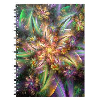 Plastic Flower Spiral Notebook