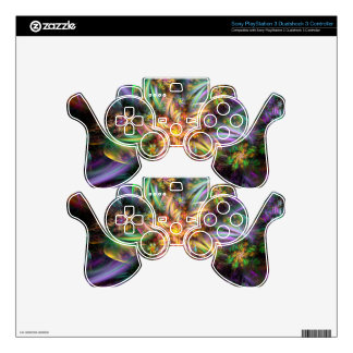 Plastic Flower Spiral Skins For PS3 Controllers