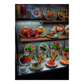PLASTIC FOOD DISPLAY - KYOTO JAPAN POSTER