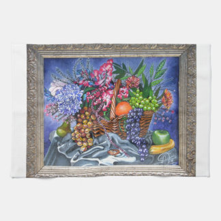 Plastic Fruits and Flowers Towels