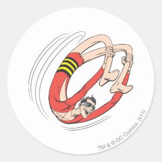 Plastic Man Backbend Wheel Stickers