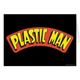 Plastic Man Logo Greeting Cards