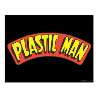 Plastic Man Logo Postcard