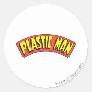 Plastic Man Logo Stickers