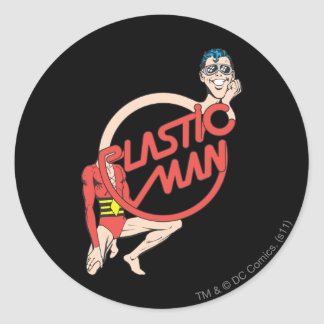 Plastic Man Rubberneck Sign Round Stickers