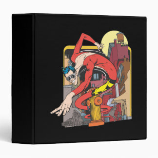 Plastic Man Shape-Shifts in the City 3 Ring Binders