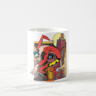 Plastic Man Shape-Shifts in the City Coffee Mug