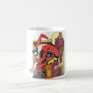 Plastic Man Shape-Shifts in the City Coffee Mugs