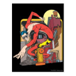 Plastic Man Shape-Shifts in the City Postcard