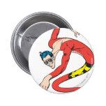 Plastic Man Shape-Shifts Pinback Buttons