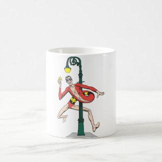 Plastic Man Wraps Streetlamp Coffee Mug