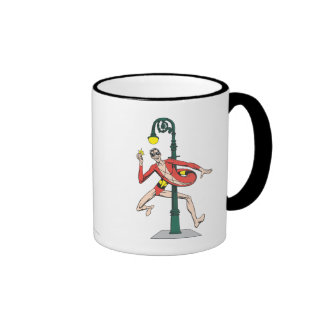 Plastic Man Wraps Streetlamp Ringer Mug