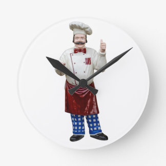 Plastic Model Chef Round Wallclocks