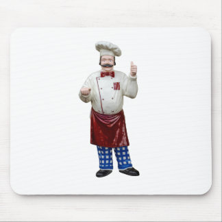 Plastic Model Chef Mouse Pad
