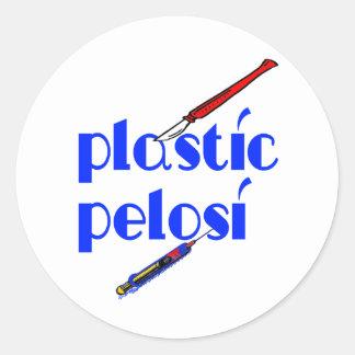 Plastic Nancy Pelosi Stickers