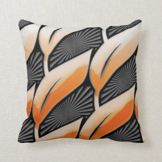 Plastic Orange Leaves Throw Pillow