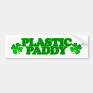 Plastic Paddy Bumper Sticker
