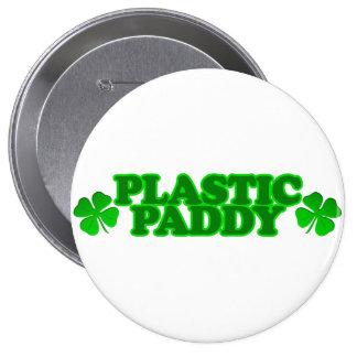 Plastic Paddy Pinback Button
