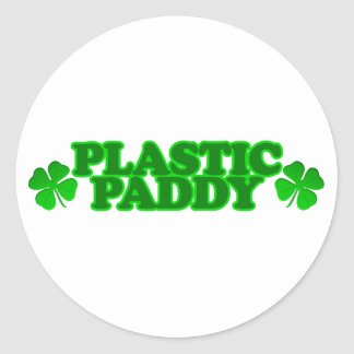 Plastic Paddy Stickers