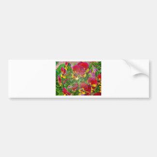 Plastic Pansies Bumper Stickers