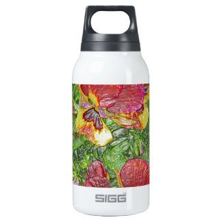 Plastic Pansies Insulated Water Bottle