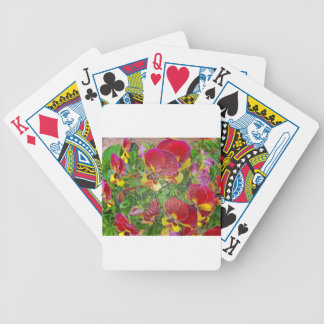 Plastic Pansies Bicycle Poker Cards