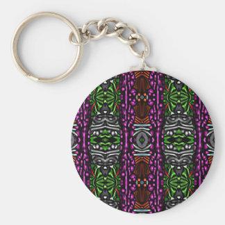 Plastic pattern key chains